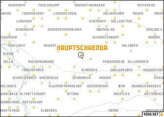 map of Hauptschwenda