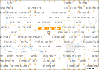 map of Hausenbach