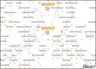 map of Hausen