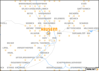 map of Häusern