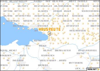 map of Hausreute