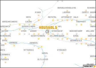 map of Hauswald