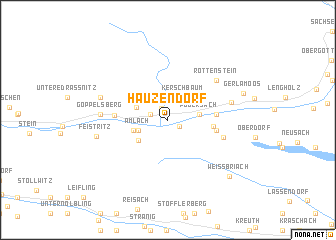 map of Hauzendorf