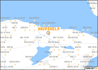 map of Havreholm