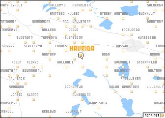 map of Havrida