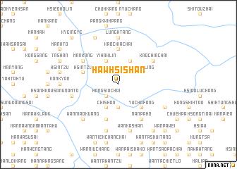 map of Hawhsishan