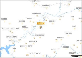 map of Hawk