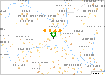 map of Hawng Luk