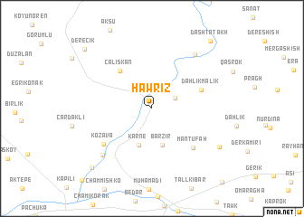 map of Hawrīz