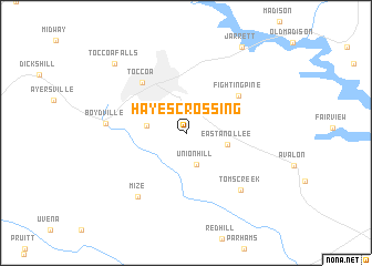 map of Hayes Crossing