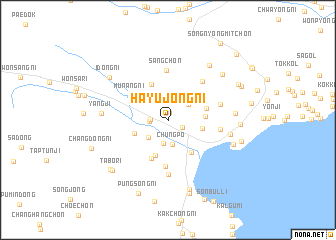 map of Hayujŏng-ni