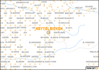 map of Ḩayy al Birkah
