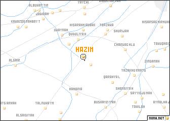map of Ḩāzim