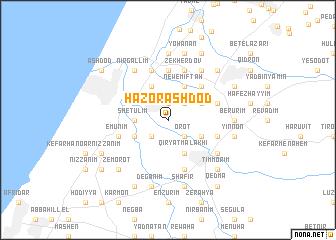 H̱aẕor Ashdod (Israel) map - nona.net