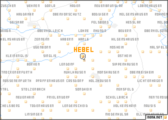 map of Hebel