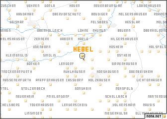 map of Hebel