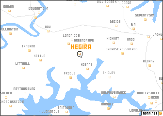 Hegira (United States - USA) map - nona.net
