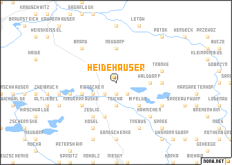 map of Heidehäuser