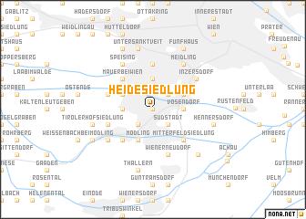 map of Heidesiedlung