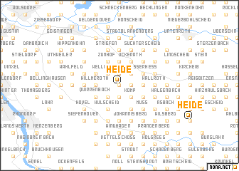 map of Heide