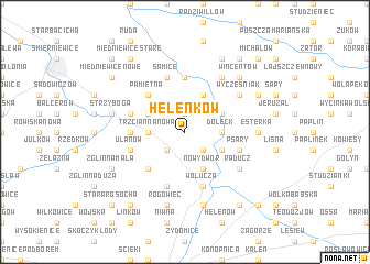 map of Helenków