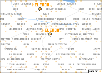 map of Helenów
