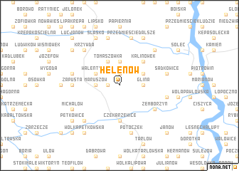 map of Helenów