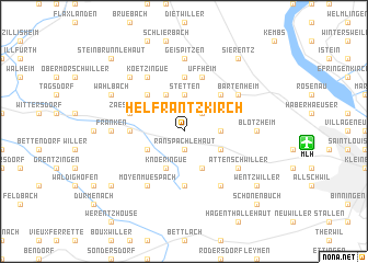 map of Helfrantzkirch