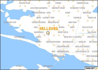 map of Hellevad