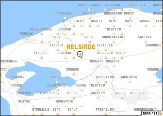 map of Helsinge