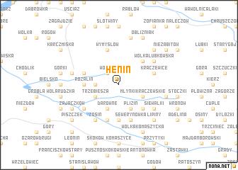 map of Henin