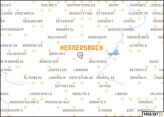 map of Hennersbach
