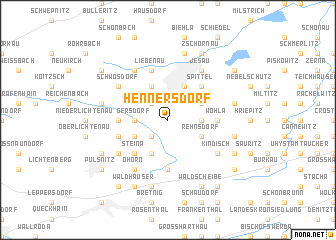 map of Hennersdorf