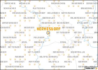 map of Hermesdorf