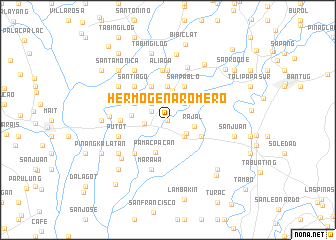 map of Hermogena Romero
