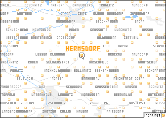 map of Hermsdorf