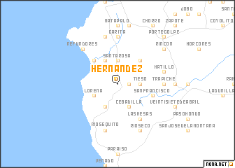 map of Hernández