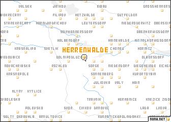 map of Herrenwalde