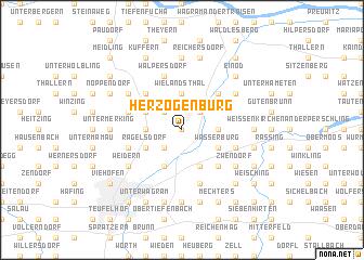 map of Herzogenburg