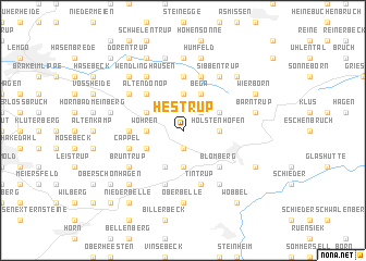map of Hestrup
