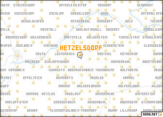 map of Hetzelsdorf
