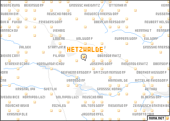map of Hetzwalde