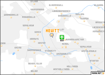 map of Hewitt