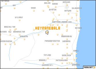map of Ḩeyrān-e Bālā