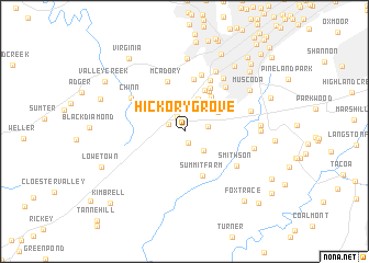 map of Hickory Grove