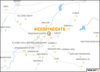 map of Hickory Heights