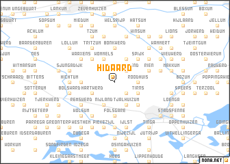 map of Hidaard