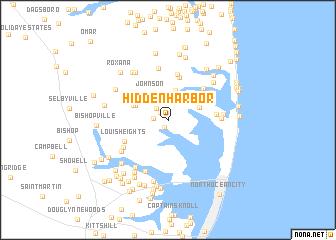 map of Hidden Harbor