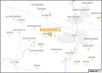 map of Hidden Hill