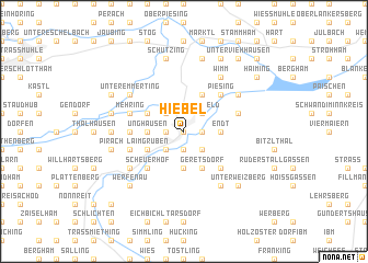 map of Hiebel